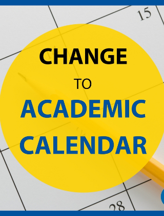 Change in the District Calendar